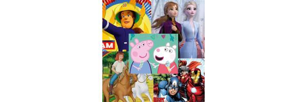 Helden und Figuren aus Film und Fernsehen