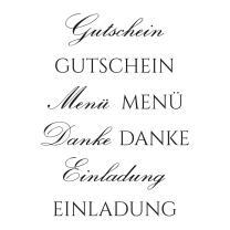 Efco (128) clear stamps Stempel Set - Gutschein Menü...