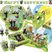76-teiliges Party-Set Der kleine Maulwurf   - Teller...