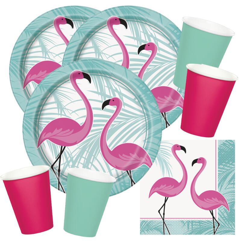 10x Flamingo Einwegbecher Pappbecher Papierbecher Partybecher Trinkbecher