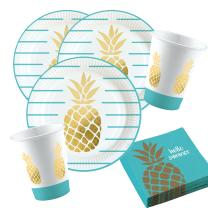 36-teiliges Party-Set Pineapple Vibes - Ananas - Teller...