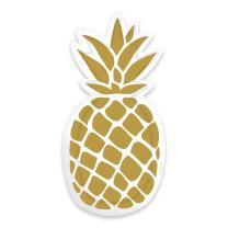 Pineapple Vibes - 6  Pappteller in Form einer Ananas 24 x...