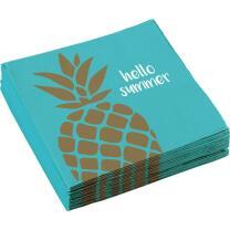 Pineapple Vibes - Ananas - 20 Servietten 33 x 33 cm