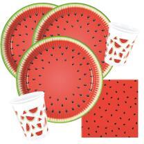 36-teiliges Party-Set Wassermelone - Teller Becher...