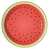 52-teiliges Party-Set Wassermelone - Teller Becher...