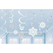 12 Dekospiralen Schneeflocke