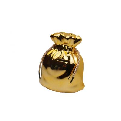 Spardose - Geldsack klein gold