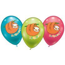 Faultier - Luftballons, 6 Stück
