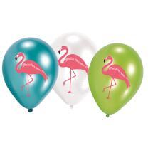 Flamingo - Luftballons (Amscan), 6 Stück