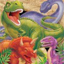 Dinosaurier - Dino Alarm  -  Servietten, 16 Stück 33...