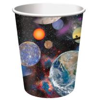 Weltraum Space Blast Party - Becher - Pappbecher, 8...