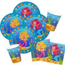36-teiliges Party-Set Meerjungfrau (Folat) - Teller...