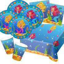 37-teiliges Party-Set Meerjungfrau (Folat) - Teller...
