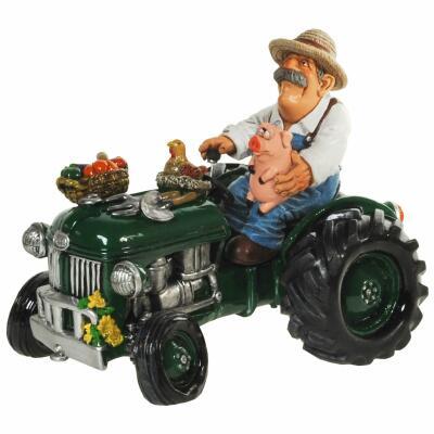 Spardose - Traktor mit Landwirt
