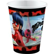 Miraculous Ladybug - 8 Becher - Pappbecher 0,25 l