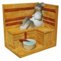 Spardose - Sauna-Maus