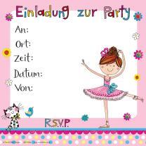 Rachel Ellen Kleine Ballerina - Einladungen mit Umschlag,...