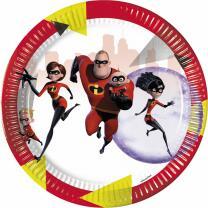 Incredibles 2 - Die Unglaublichen 2  -  Pappteller, 8...