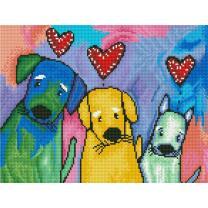 Diamond Dotz - Serie DD7 - Hunde Three Amigos