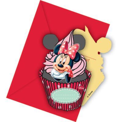 Minnie Café Einladungskarten, 6 Stück