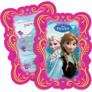 Frozen die Eiskönigin Einladungskarten, 6 Stück
