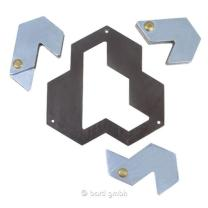 Huzzle Cast Puzzle Hexagon Level 4