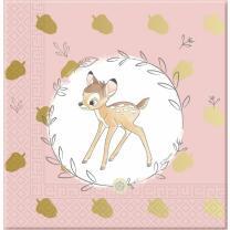 Bambi -  20 Servietten, 33 x 33 cm