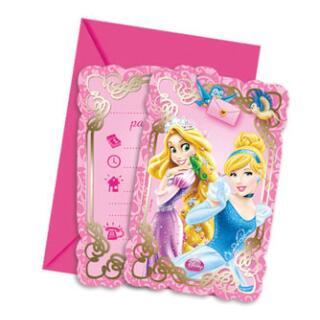 Princess & Animals Einladungskarten, 6 Stück