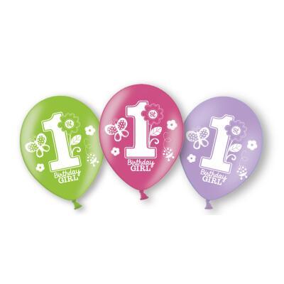 Sweet Birthday Girl - 1. Geburtstag  - 6  Luftballons