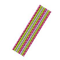 8  Papiertrinkhalme grün-weiß, pink-weiß...