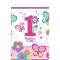 Sweet Birthday Girl - 1. Geburtstag  - Tischdecke 137 x...