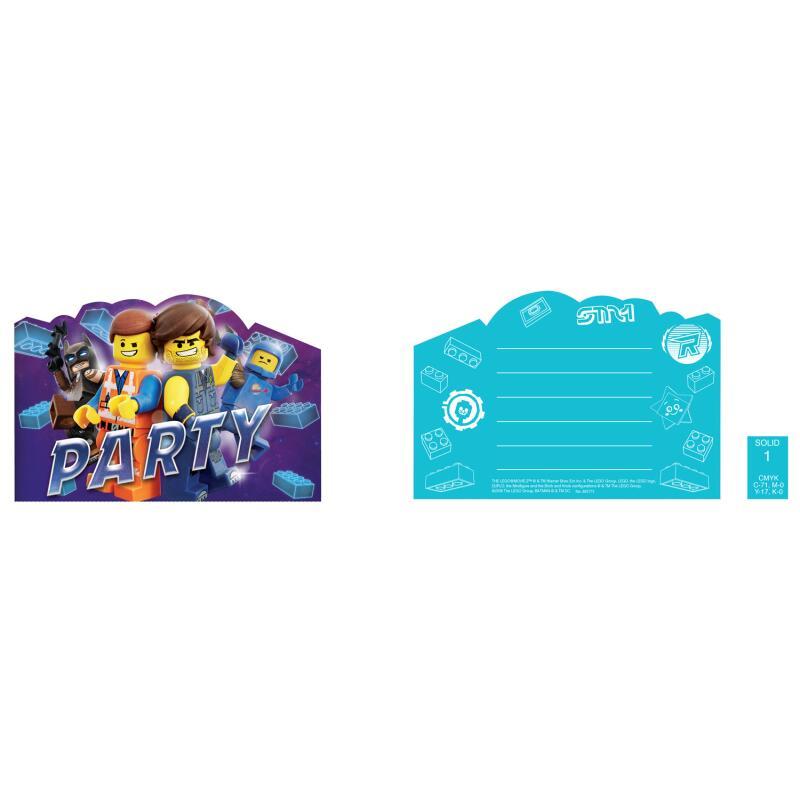 lego movie - einladungskarten mit umschlag, 8 stück, 3,79