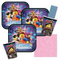 44-teiliges Party-Set Lego Movie 2 - Teller Becher...