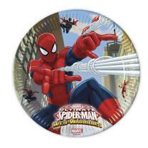 Spiderman Web Warriors - Pappteller. 23 cm, 8 Stück