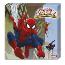 Spiderman Web Warriors - Servietten 33 x 33 cm, 20...