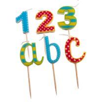 Einschulung - Schulanfang  - Kerzen ABC und 123
