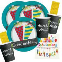 68-teiliges Party-Set Schulanfang -  Teller Becher...