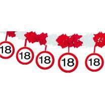 18. Geburtstag Girlande Verkehrsschild mit Hängern 4 m