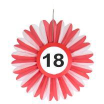 18. Geburtstag Wabenfächer Hängedeko mit...