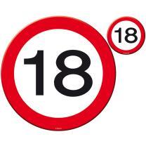 18. Geburtstag Konfetti XL Verkehrsschild