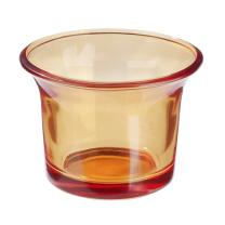 Teelichtglas orange