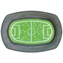 Fußball Kicker Party  - 6 Pappteller,  24 x 16 cm...