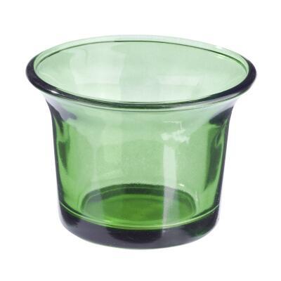 Teelichtglas dunkelgrün