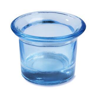 Teelichtglas eisblau