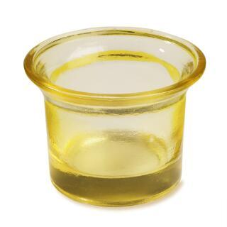 Teelichtglas gelb