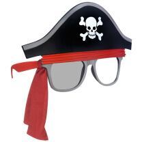 Spaßbrille Partybrille Pirat getönt/klar