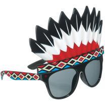 Spaßbrille Partybrille Indianerschmuck, getönt