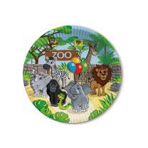 Zoo -  Pappteller,  8 Stück  23 cm