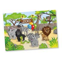 Zoo  - Platzsets aus Papier , 8 Stück 38 x 27 cm