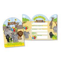Zoo-Tiere - große Einladungen, 8 Stück...